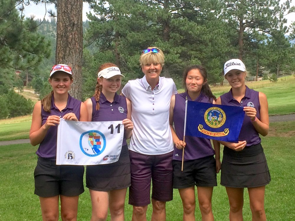 (left to right) Makena Rauch, Carly Carter, Karen Darrington, Christine Cho, Emily Cadwell