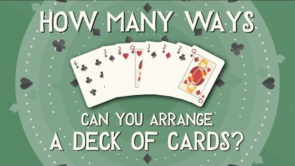 shuffled deck of cards