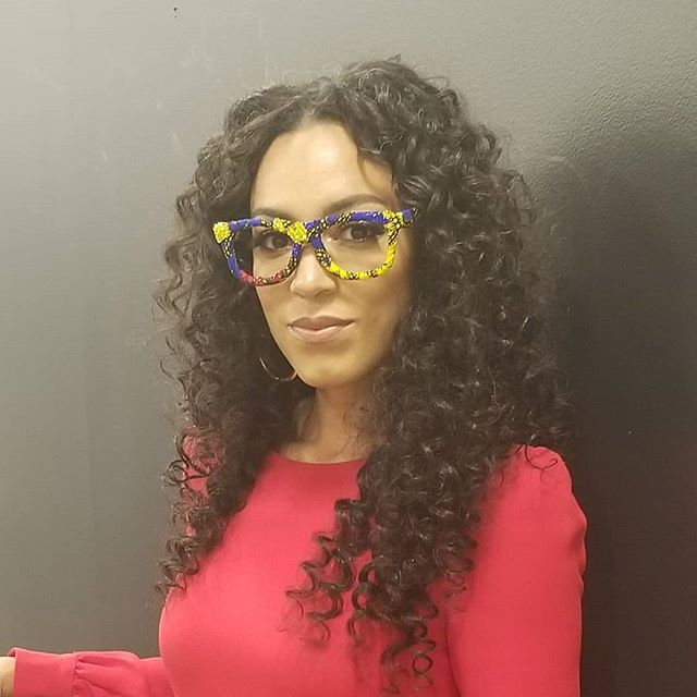 """What is she thinking? """"I love these frames"""" - it could be true 🤓 @angelarye @ifeyeever - get yours at www.ifeyeever.com"""