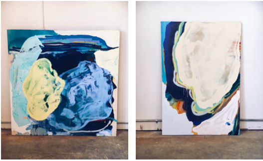 The balance within the collection can be seen here between these two paintings.