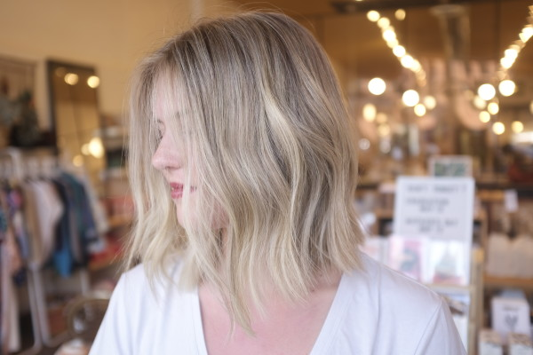Lovely ROOTY blonde by ERICA