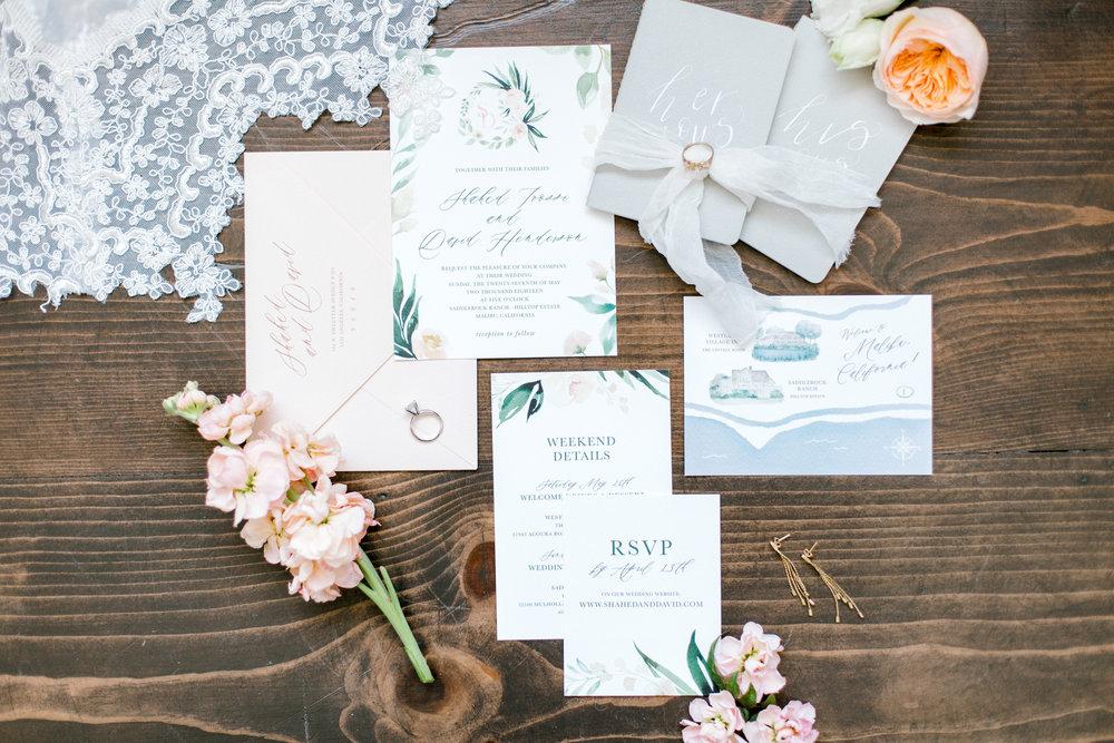 custom rustic wedding invitations, Los Angeles wedding invitations    Orange Blossom Special Events