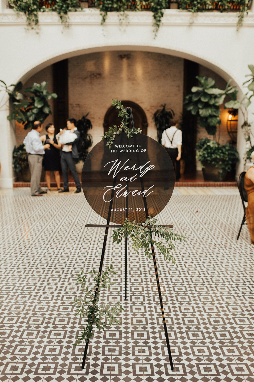 Custom Wedding Design, Los Angeles, Custom Sign, Floral Wedding Sign    Orange Blossom Special Events