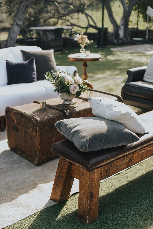 custom wedding furniture, outdoor wedding furniture, rustic wedding decorations, outdoor wedding, view wedding, Los Angeles wedding     Orange Blossom Special Events