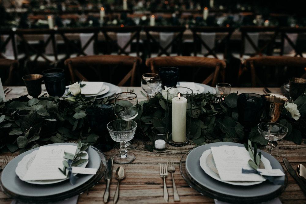 custom wedding settings, wedding silverware, wedding place setting, rustic wedding, outdoor wedding, Los Angeles wedding     Orange Blossom Special Events
