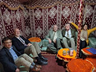Photo of TIEC staff including President Robin Lerner visiting PMU in Saudi Arabia
