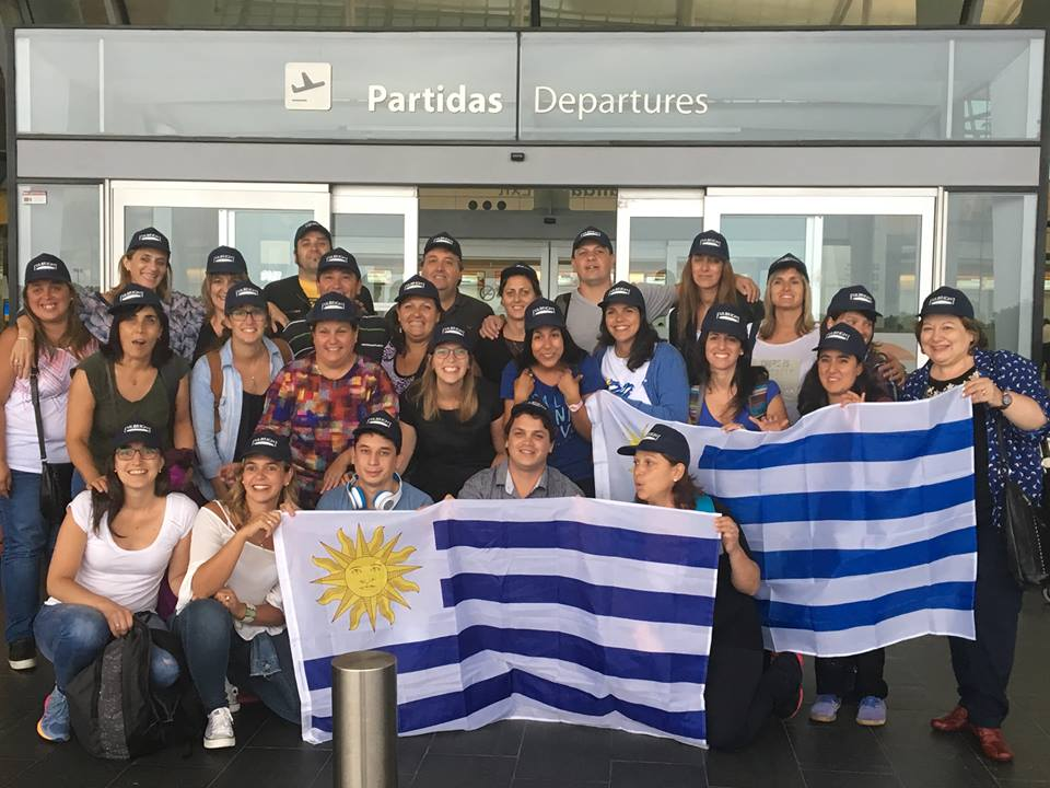 Group photo of teachers from Uruguay on a TIEC program