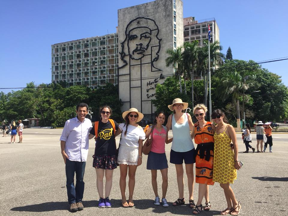 TIEC Instructor Abbey Maedgen in Cuba with fellow Peace Boat teachers.