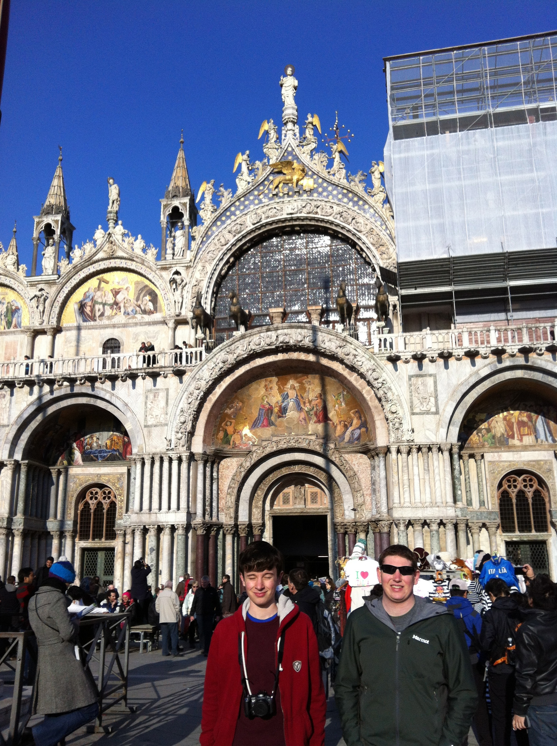Boys at St Marks Basilica