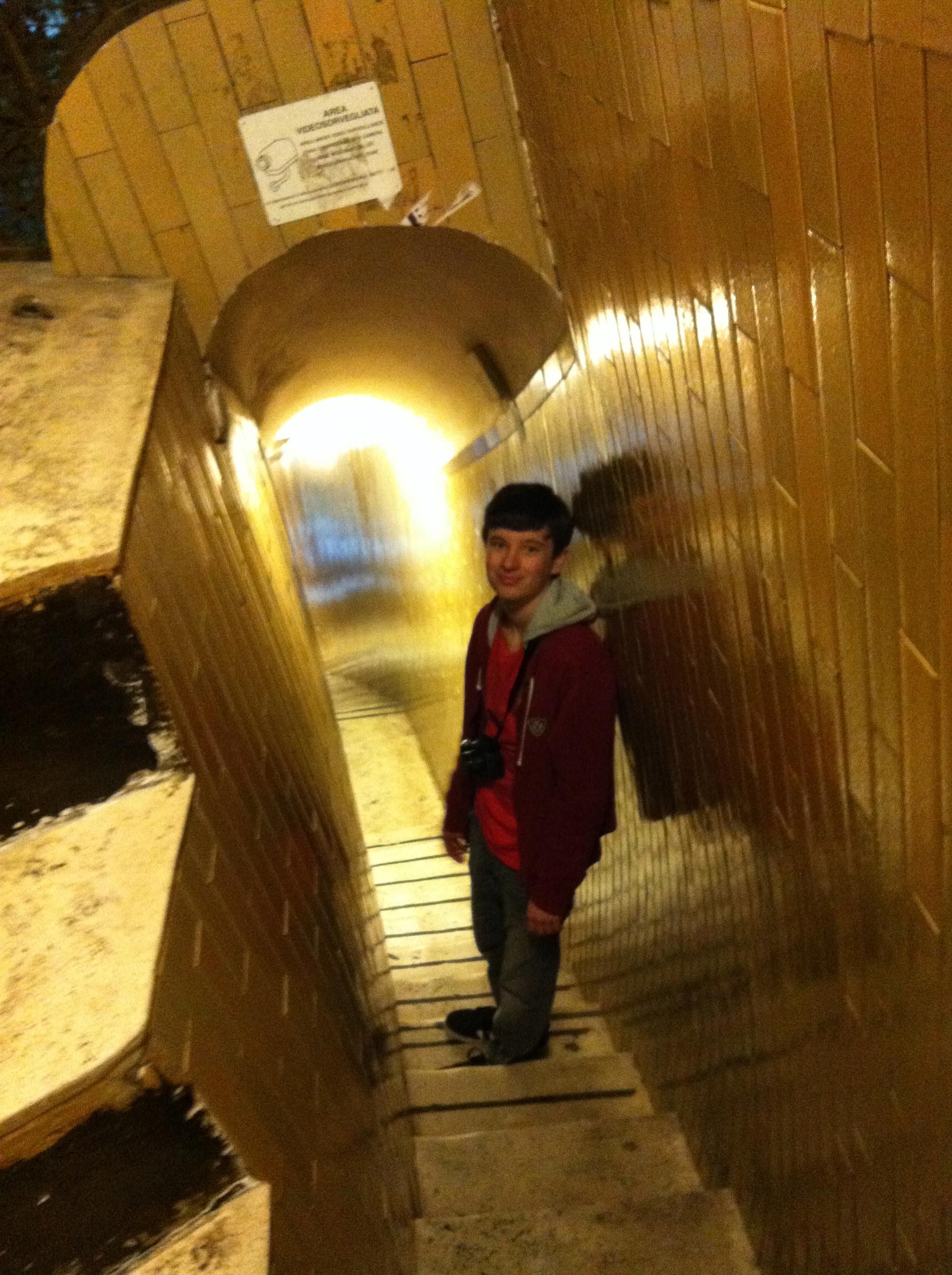 Descending the dome