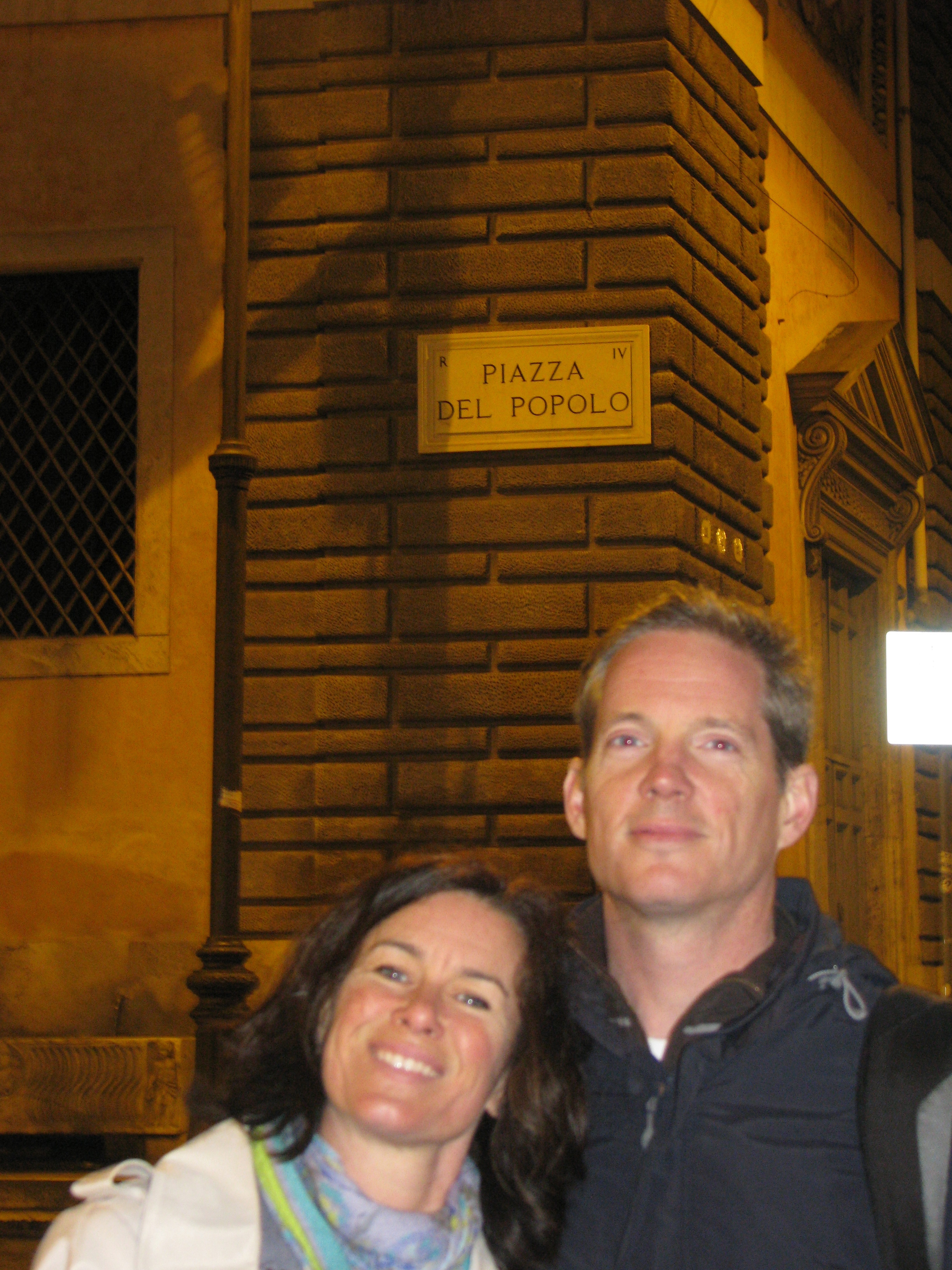 Laura and Tom at Piazza del Popolo