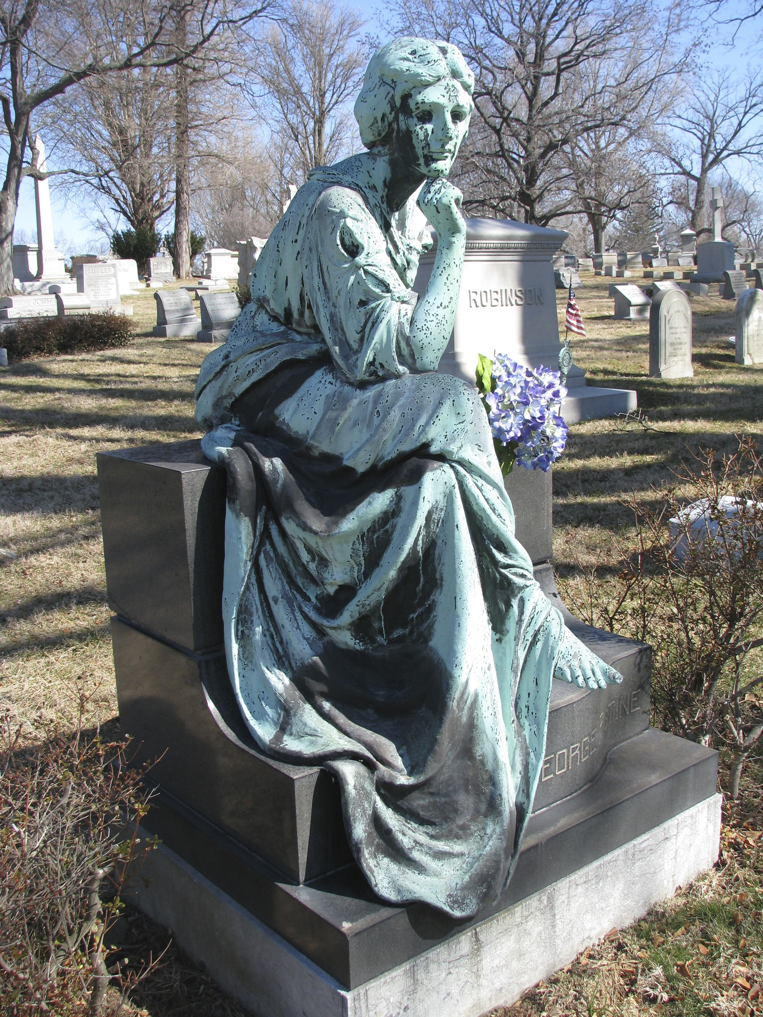 My fave statue in the cemetery.