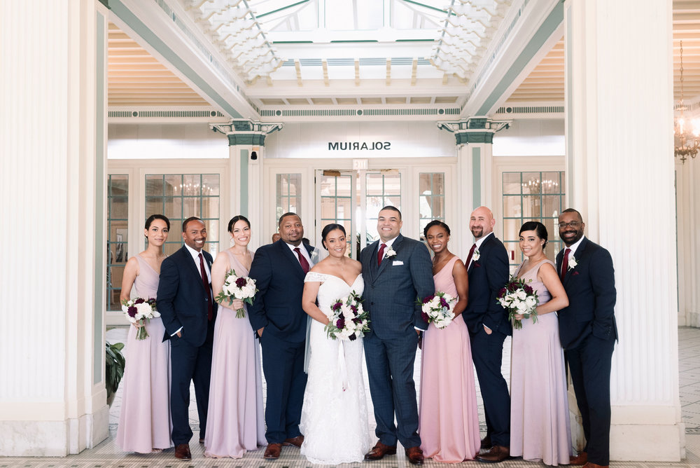 Destination wedding bridal party