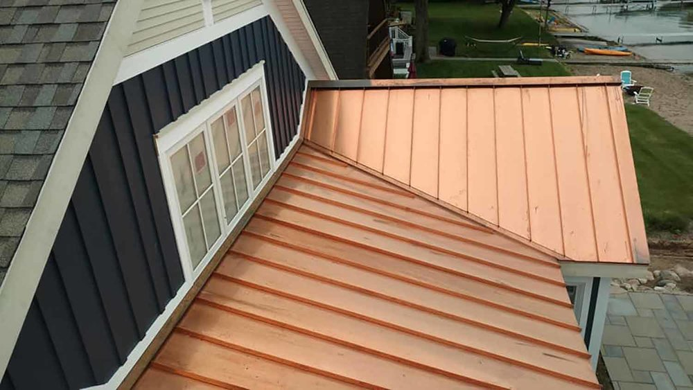 Copper Standing Seam