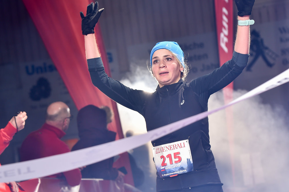 Marathon-Siegerin Nina Zarina