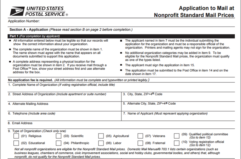 How To Get Nonprofit Status With USPS — PPS   Direct Mail