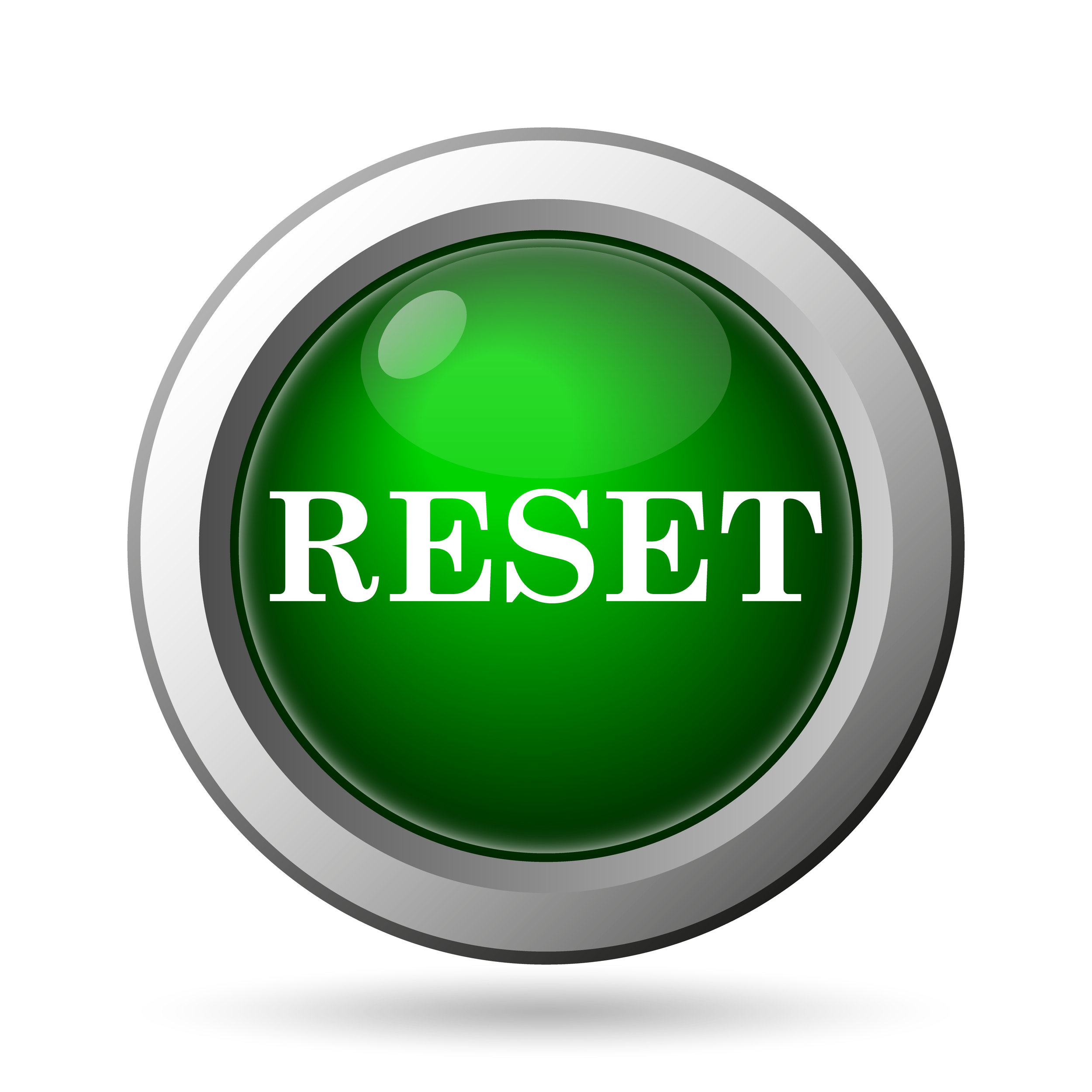 Reset icon. Internet button on white background