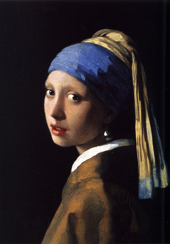 Girl with a Pearl Earring, oil on canvas, 1665 by Vermeer.