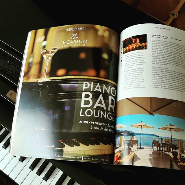 A feature in Monte Carlo Soceity Magazine on the Piano Bar series I have performing in Monaco this summer. It is now the final weekend of the season. It has been very chic... More to fun to come... (9:30pm-2am Thurs - Sat)