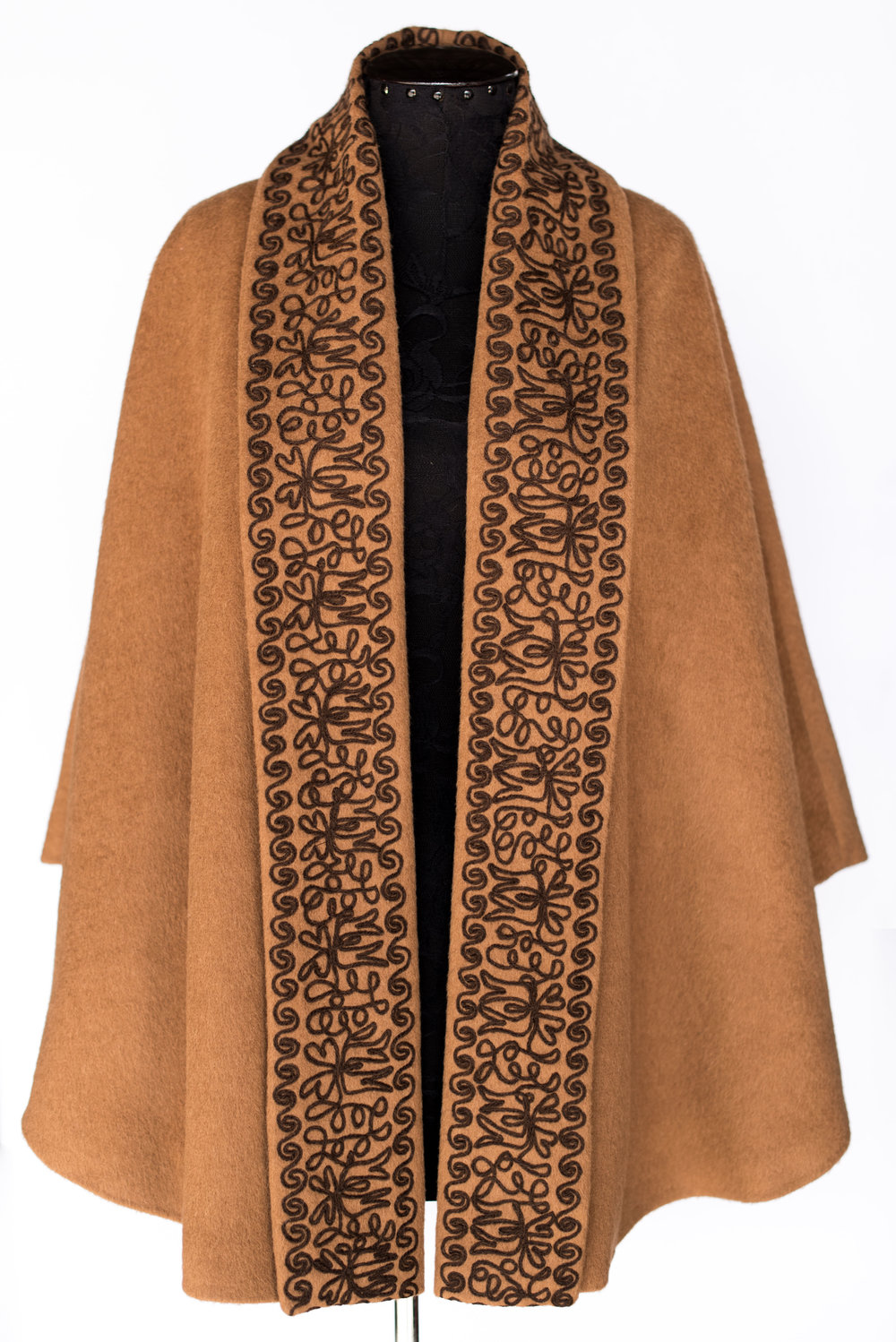 Cape with embroidery -