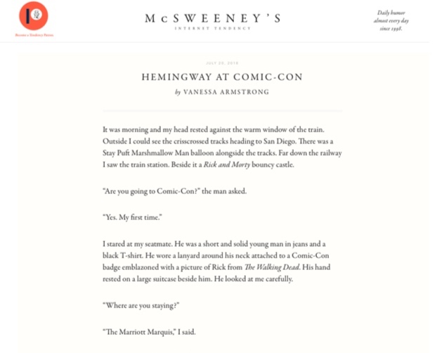 McSweeney%2527s%2BComic-Con%2B%2526%2BHemingway