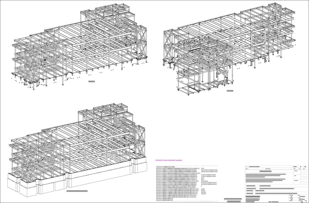 Isometric 3D View Steel Detailing Drawing