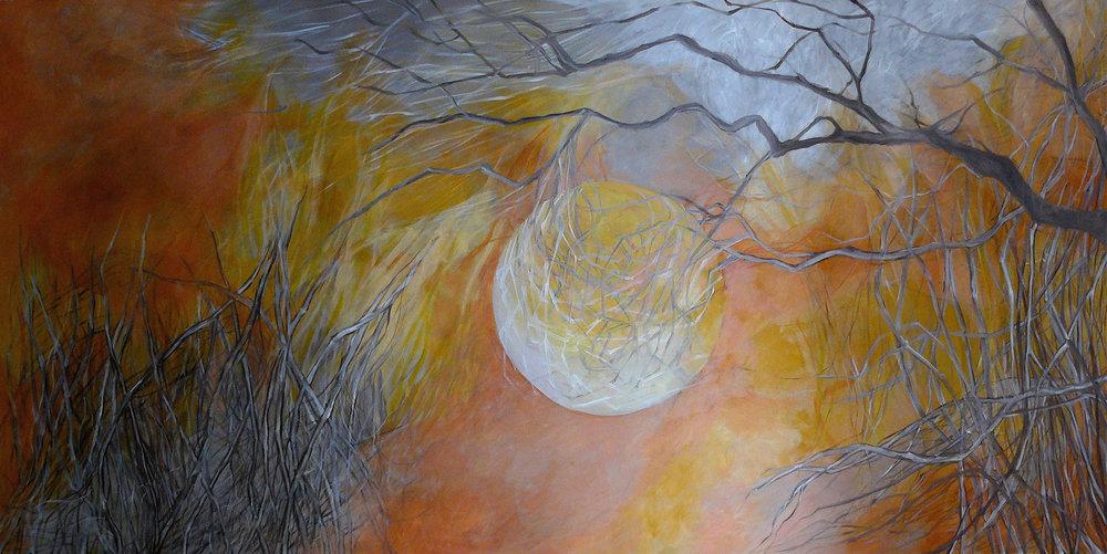 Paisaje de plata - Óleo sobre tela - 200 x 100 cm