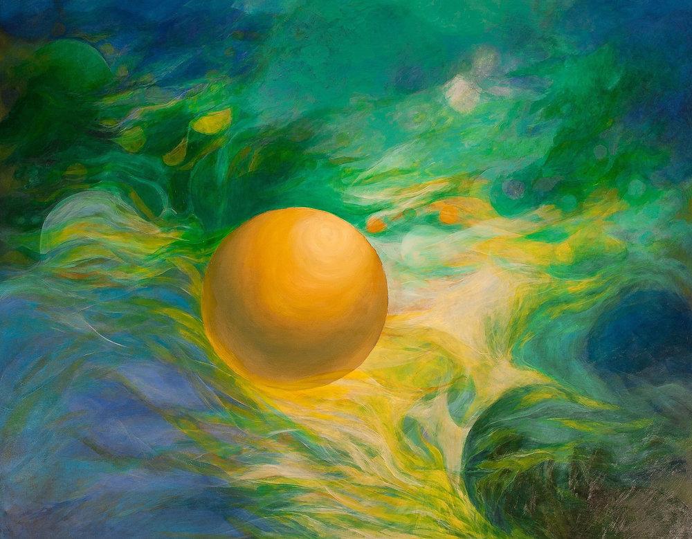 Nuevos mundos, infinitos soles - Óleo sobre tela - 150 x 190 cm