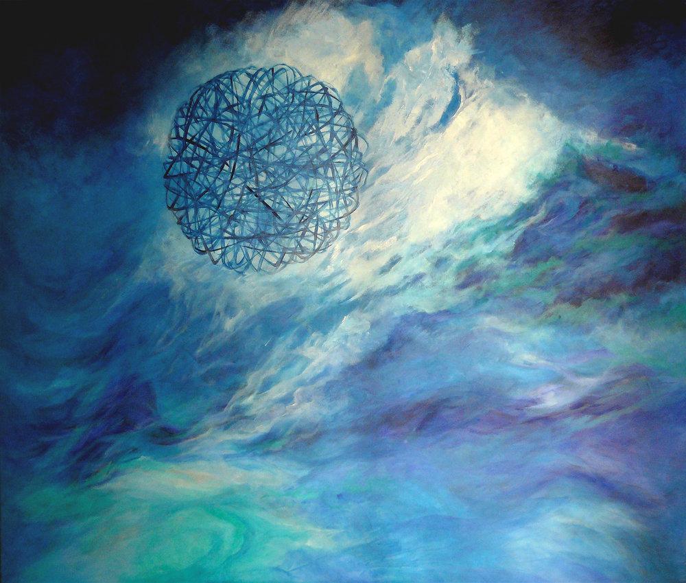 El sonido del cosmos - Óleo sobre tela - 140 x 120 cm
