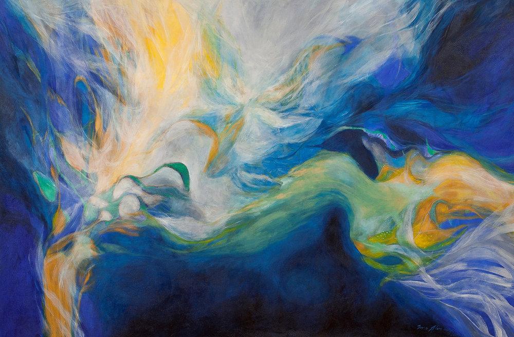 Vagabundos cósmicos - Óleo sobre tela - 180 x 120 cm