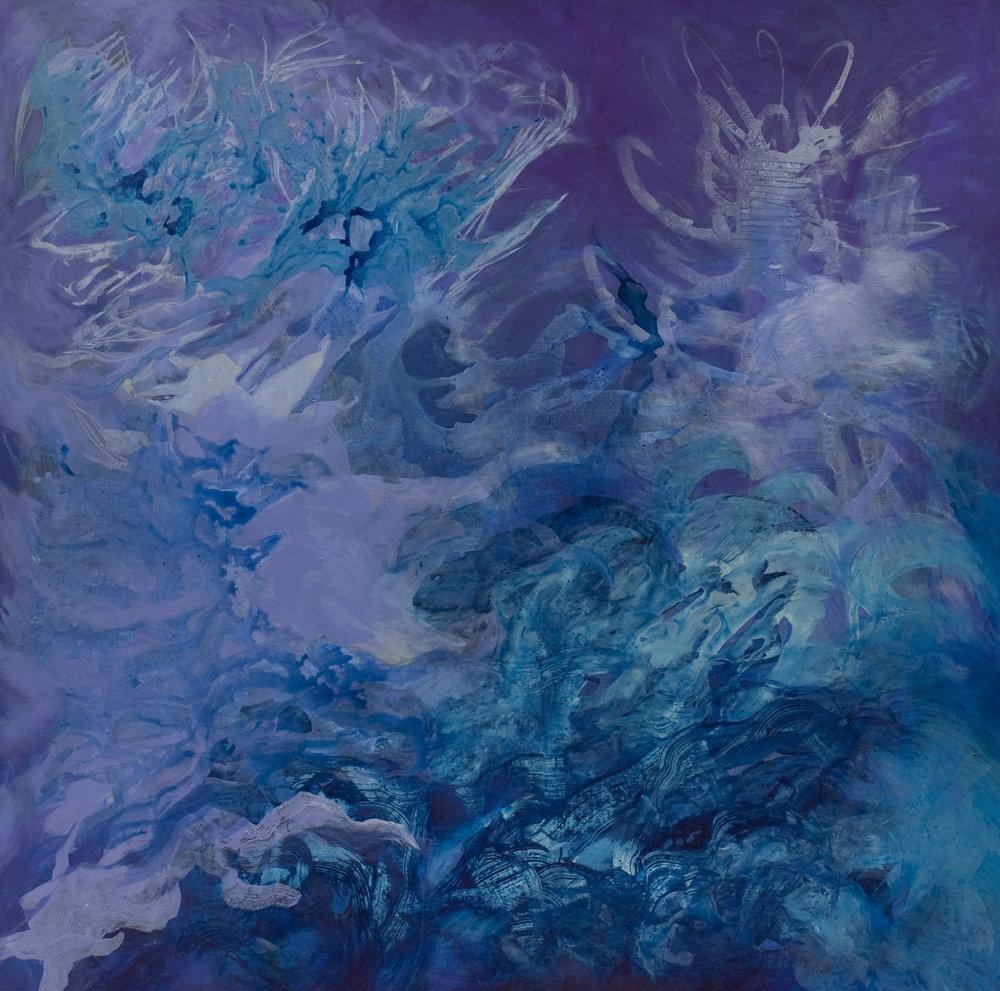 Planeta azul - Acrílico sobre tela - 150 x 150 cm