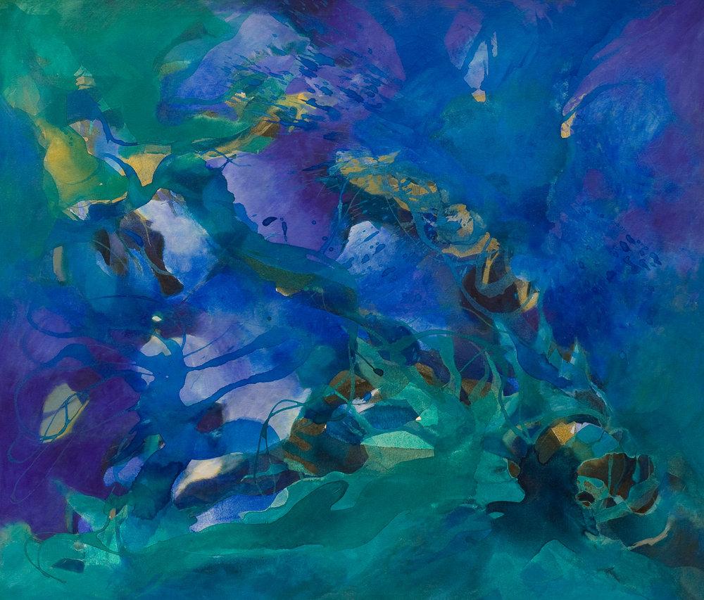 Bosque Esmeralda - Acrílico sobre tela - 130 x 150 cm