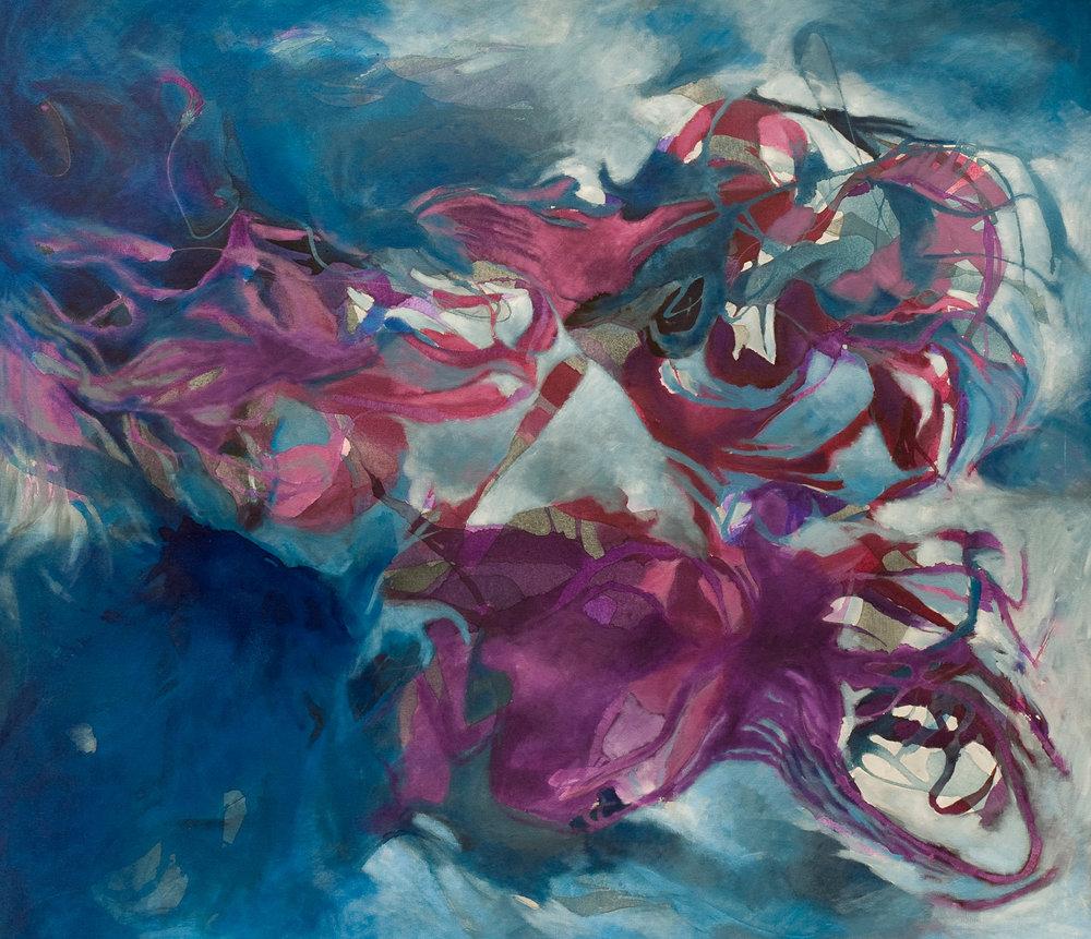 Oceano infinito - Acrílico sobre tela - 130 x 150 cm