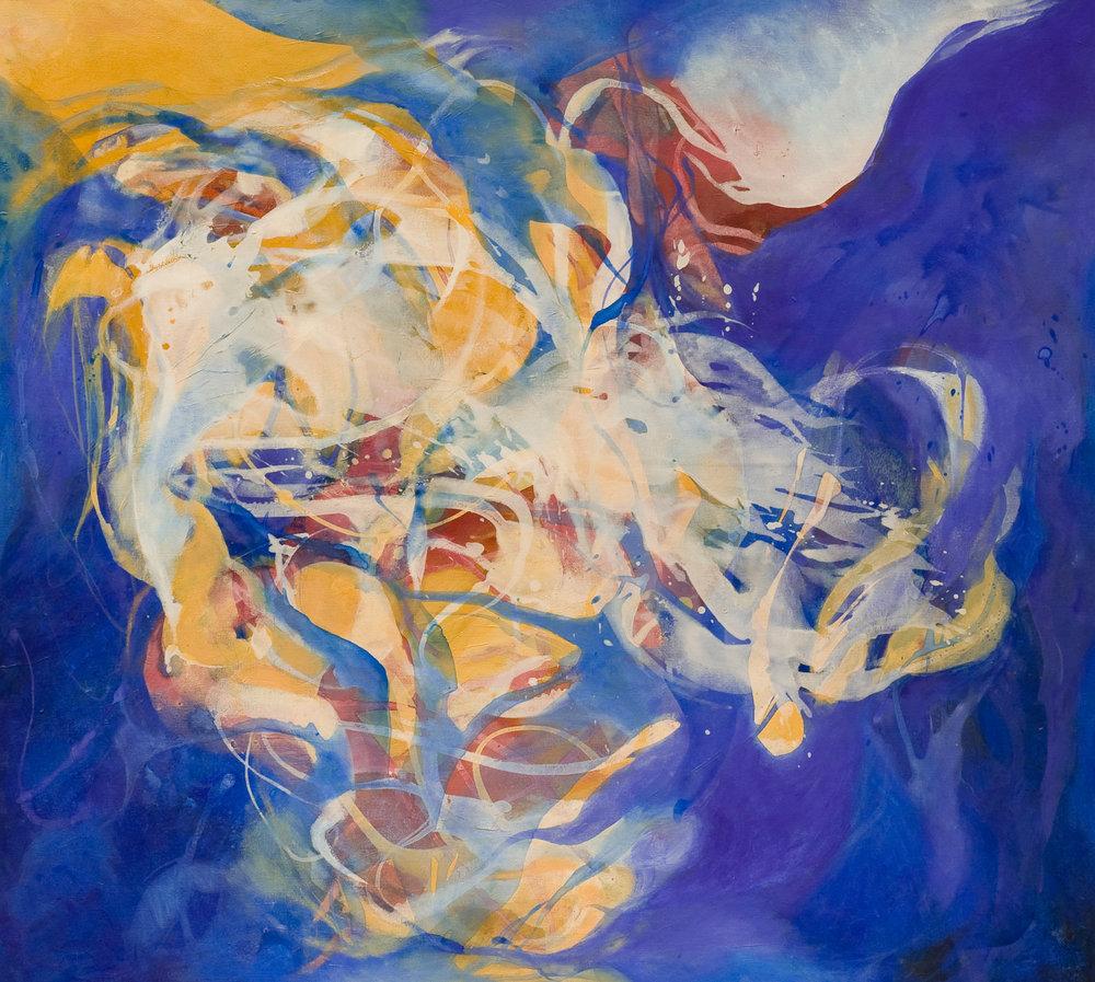 Nostalgia de la luz - Acrílico sobre tela - 130 x 150 cm