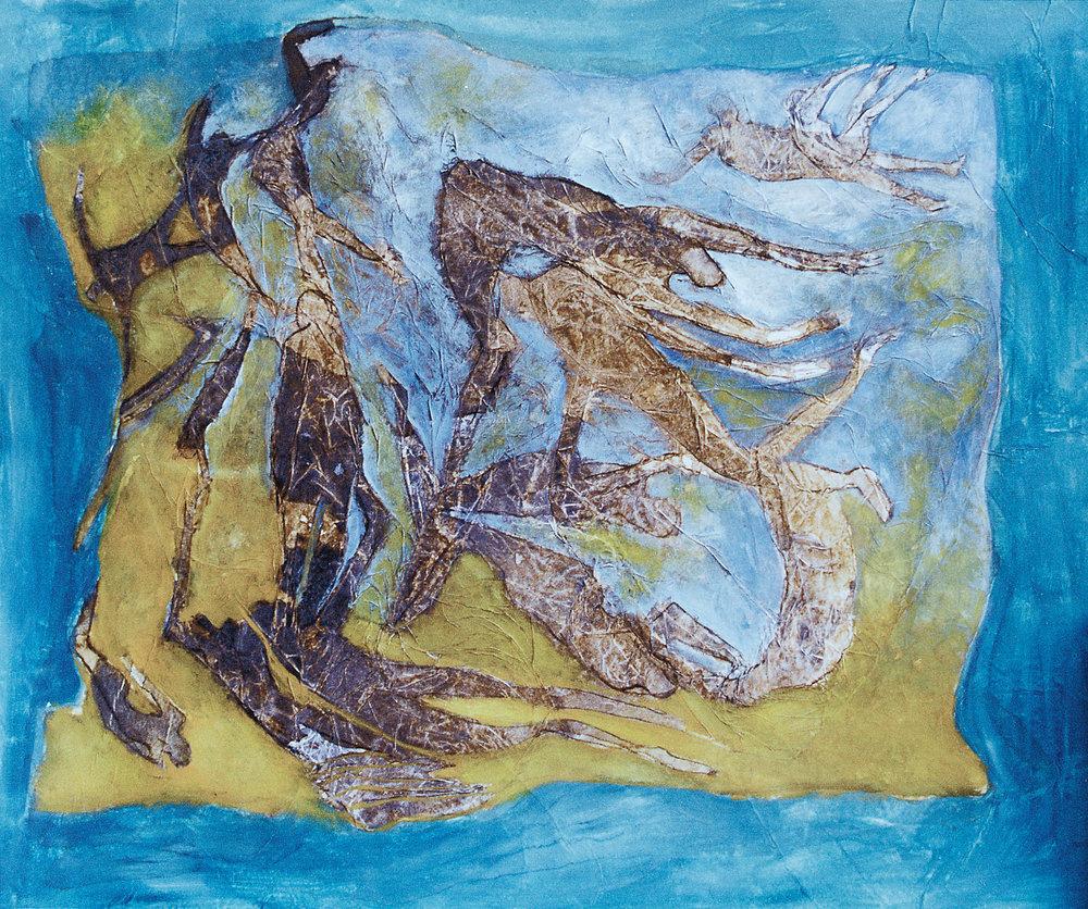 Infinito turbulento - Acuarela sobre papel - 50 x 42 cm