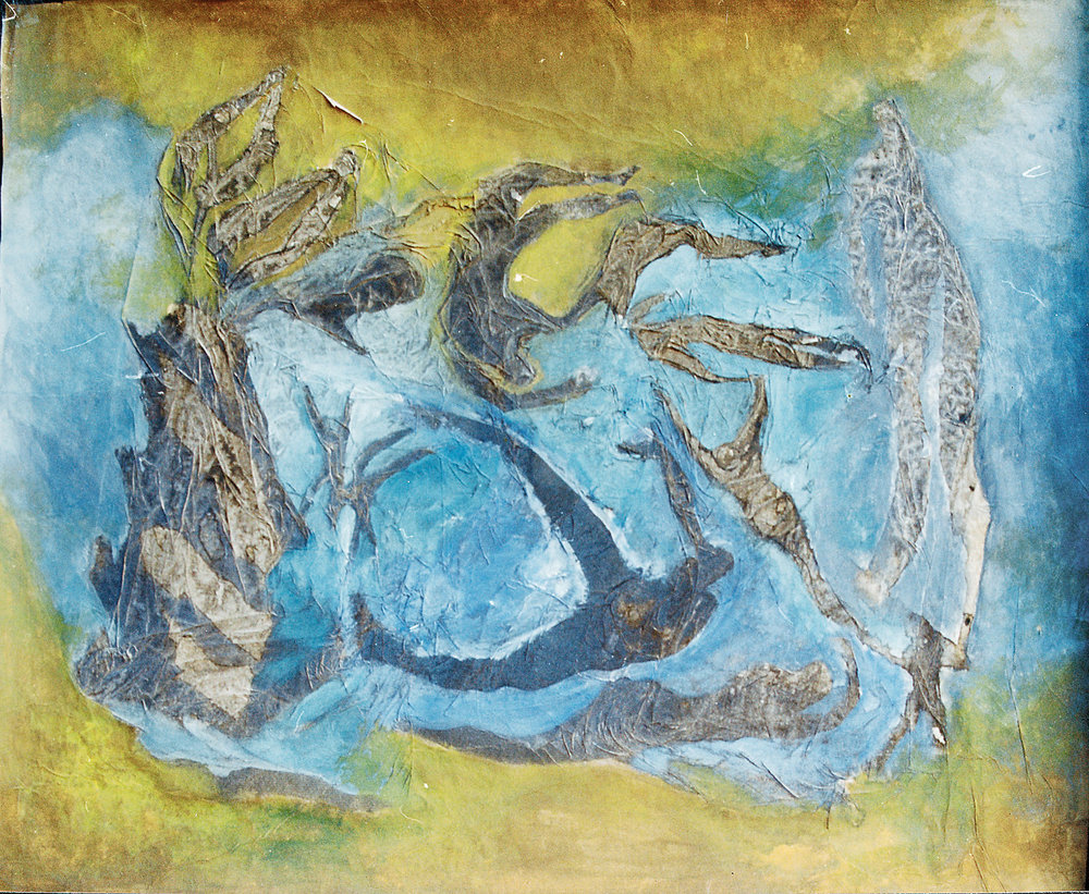 Aguas de sombras - Acuarela sobre papel de arroz -50 x 42 cm