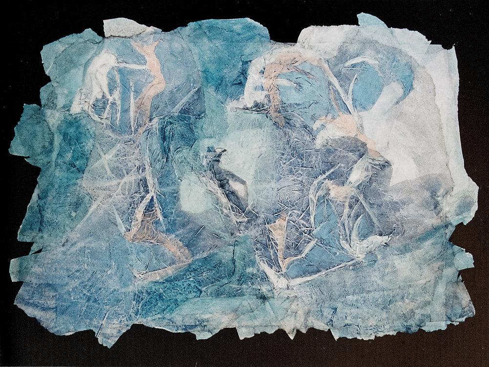 Juego de sol y sombras II - Acuarela sobre papel de arroz - 60 x 45cm