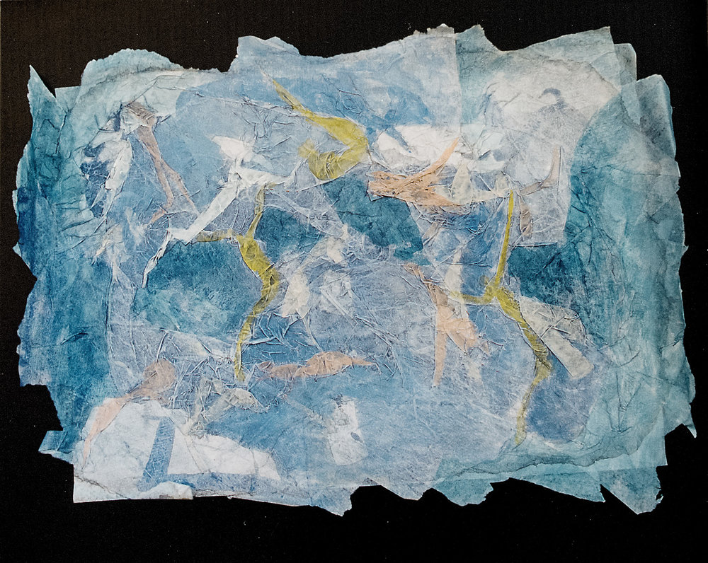 Juego de sol y sombras - Acuarela sobre papel de arroz - 60 x 45cm