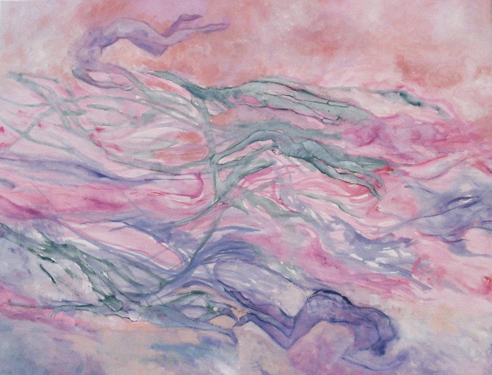 Como el alma del agua - Óleo sobre papel - 65 x 50 cm