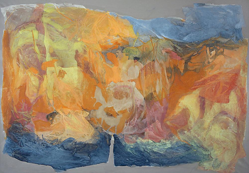 Empuñar el paisaje  2006-2007 -Técnica mixta sobre tela - 100 x 116 cm