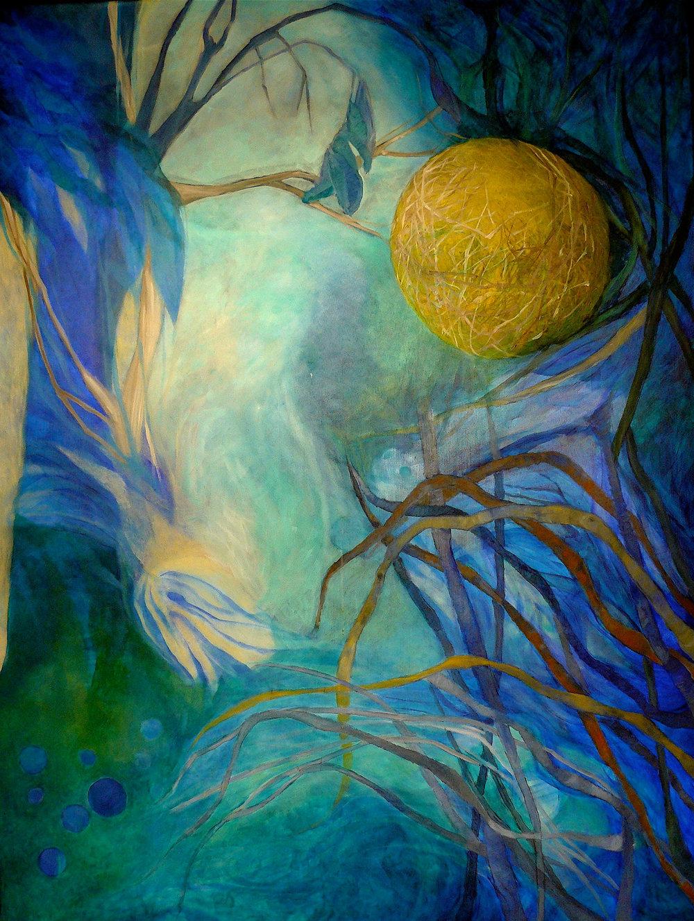 El sonido del sol  Òleo sobre tela - 160 x 120 cm