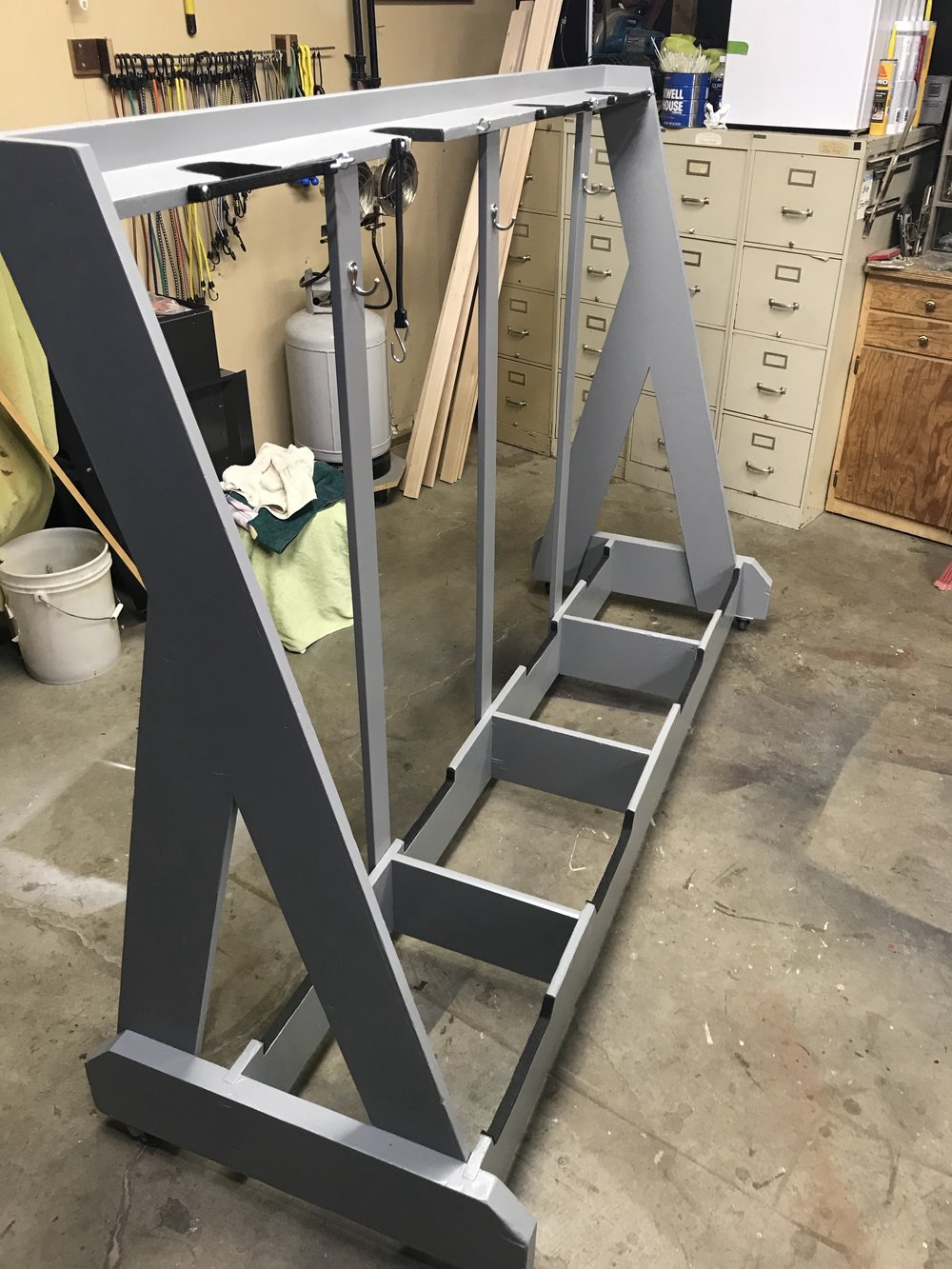 Beautifully refurbished instrument rack looks brand new!