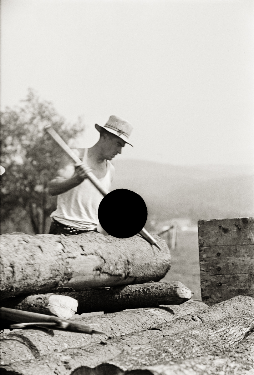65. Lumber mill worker, Lowell, VT. 1937. Arthur Rothstein. 8a08793.