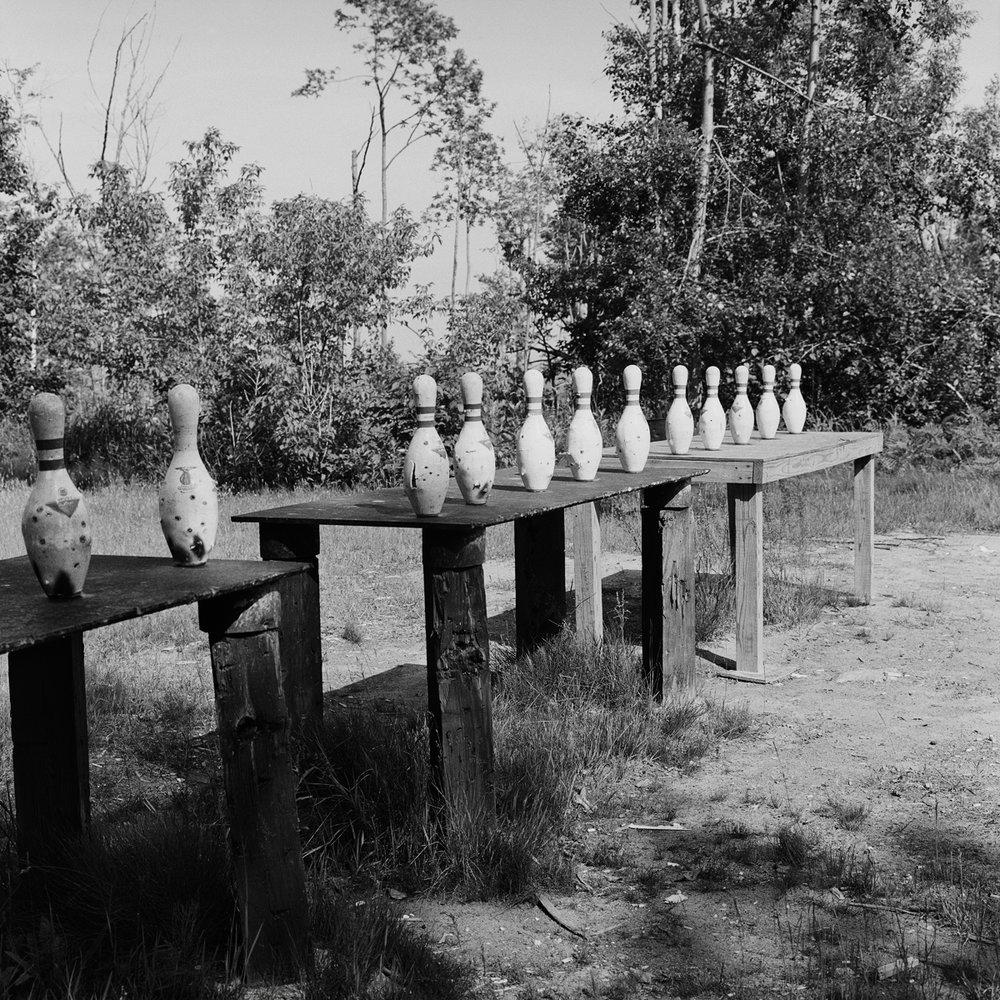 12. Shooting Range, Rod and Gun Club, Dannemora, NY. 1998. Toned Gelatin Silver Print.