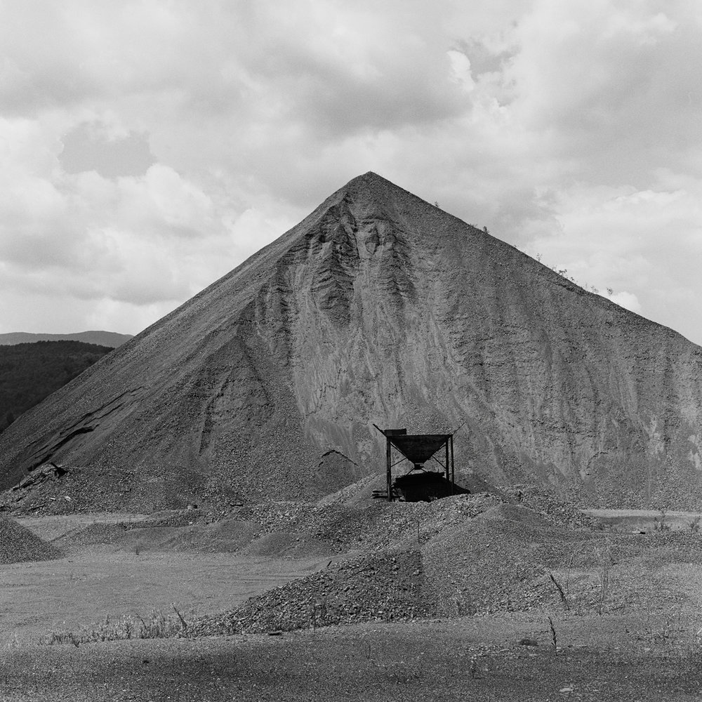 23. Tailings Pile, Tahawus, NY. 1998. Toned Gelatin Silver Print.