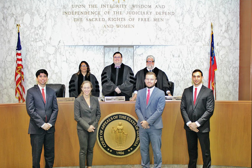 2017 Moot Court Competition champions - South Texas College of Law