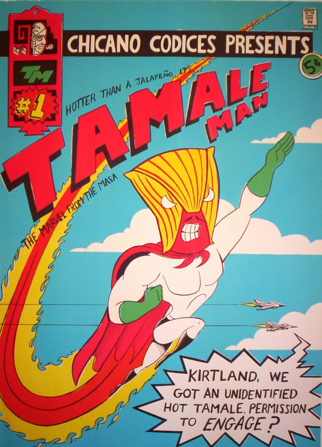 "Tamale Man #1   Lithograph, 22""x30"" Printed at Tamarind Institute"