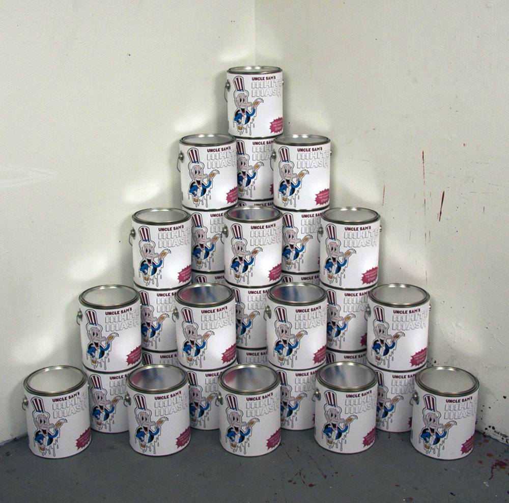 Uncle Sam's White Wash   24 paint cans