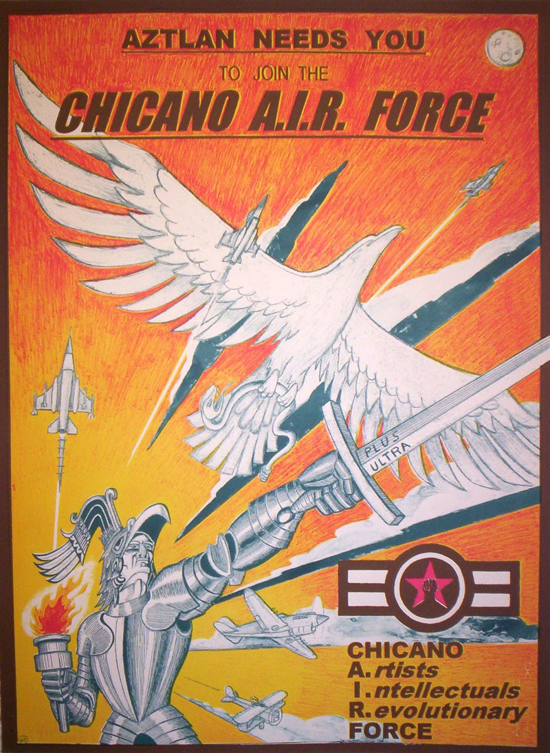 "Chicano A.I.R. Force #1   Lithograph, 22""x30"" Printed at Tamarind Institute"