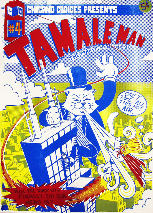 "TamaleMan #4   Silk Screen, printed at Ill Wind Press. 22""x30"""